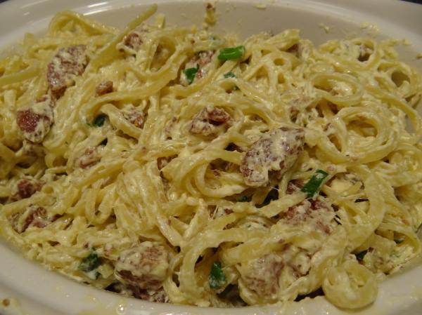 Espaguete com linguiça Belchior