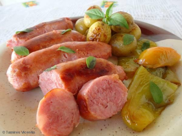 Linguiça Toscana Belchior ao forno com batatas